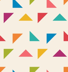 Seamless pattern with colorful triangle vector