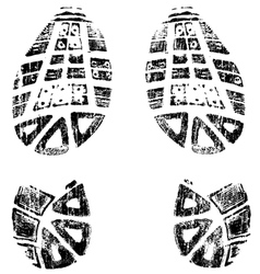 Grungy bootprints left and right very detailed vector