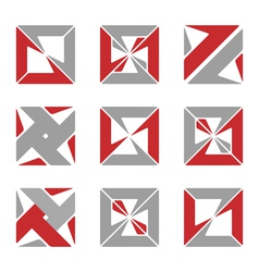Abstract square symbols vector