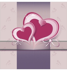 Heart flower background or card vector