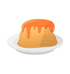 Stack of pancakes with honey icon cartoon style vector
