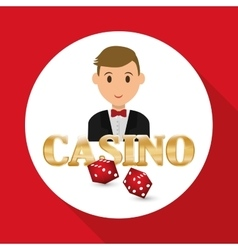 Casino design person and game icon isolated vector