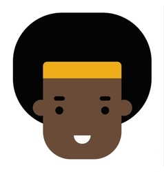 Afro boy head vector image