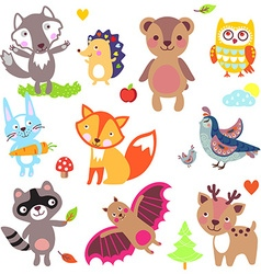 Animalsforest vector