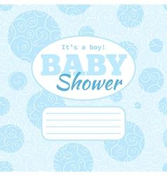 Baby shower party invitation - baby boy vector