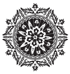 Black decorative oriental pattern and ornaments vector