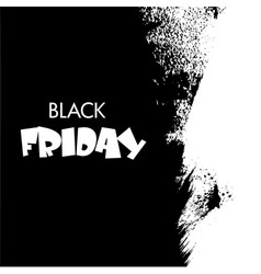 Black friday big sale white ink splach vector