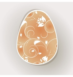 card with painted egg vector image