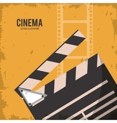 Clapboard movie film cinema icon graphic vector