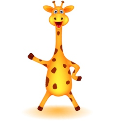 funny giraffe cartoon vector image vector image