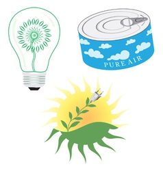 Green Energy Icon Set vector image
