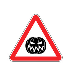 Halloween warning sign red masquerade hazard vector
