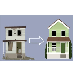House remodelling vector