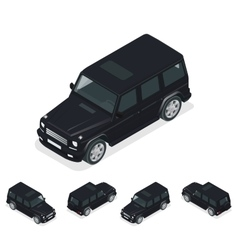 Isometric black vip car cross country vehicle vector
