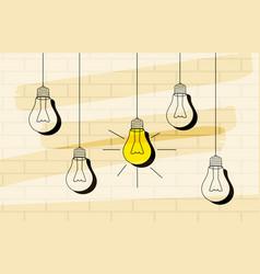 Light bulb icon with concept of idea vector