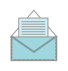 Line color e-mail letter message with business vector