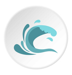 Little wave icon circle vector