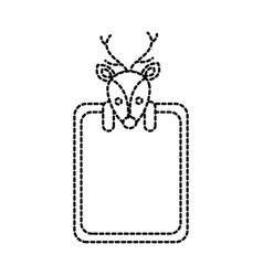 merry christmas reindeer decoration banner vector image vector image