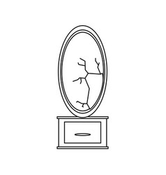 Mirror and dressing table vector