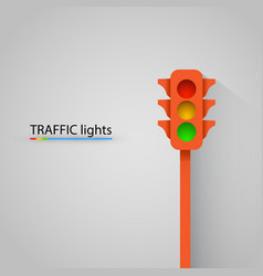 orange traffic light modern background vector image vector image