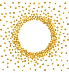 Round gold frame or border vector
