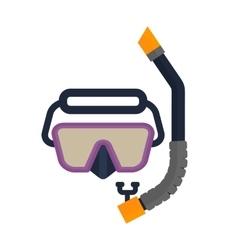 snorkel scuba mask vector image vector image