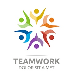 Teamwork people human colorful design vector