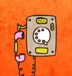 Telephone Cartoon vector image
