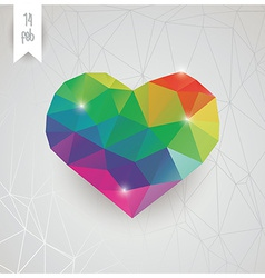 Valentines day card geometric triangle pattern vector image vector image