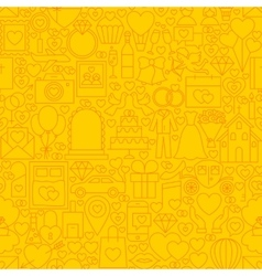 Wedding yellow line tile pattern vector