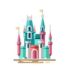 Magical castle fabulous palace vector