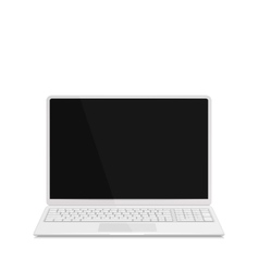 Realistic Laptop with Keyboard Isolated on White vector image