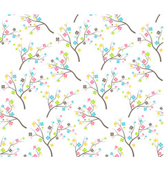 Seamless bright fun abstract spring summer flower vector