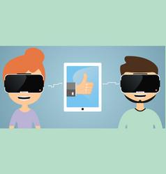 Virtual reality communication vector