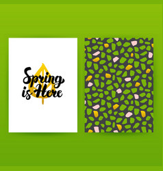 Spring is here hipster poster vector