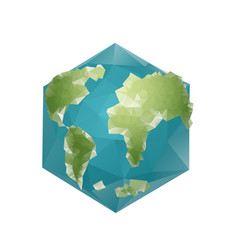 Earth polygon planet geometric figure hexagon vector