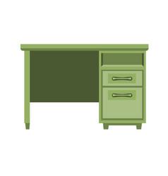 Modern green wooden table vector