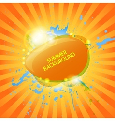 Abstract hot summer background vector