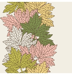 Seamless pattern with stylized autumn leaves vector
