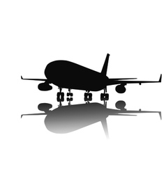 Airliner silhouette vector image