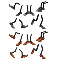 Cartoon character foots in shoes vector