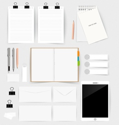 Collection of business items various papers paper vector