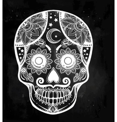 Day of the dead sugar scull vector