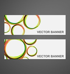 Abstract colorful banner set vector