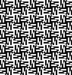 Seamless monochrome stripe pattern vector