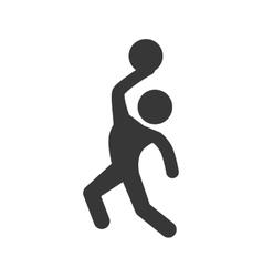 Basketball icon healthy lifestyle design vector