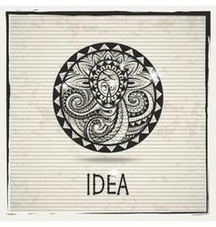 Abstract idea sign vector