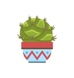 Big blob shape cactus in a pot vector