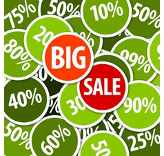 big sale labels background vector image vector image
