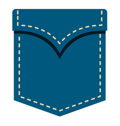 Blue pocket symbol icon isolated vector